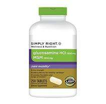 Simply Right™ Glucosamine HCL MSM   250 ct.