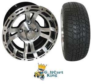 RX131 Low Profile Golf Cart 12 Wheel and Tire Combo
