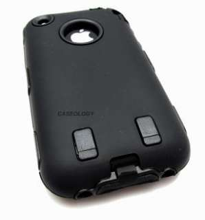 BLACK IMPACT PHONE COVER HARD CASE APPLE IPHONE 3G 3GS