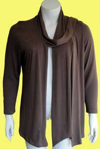 PLUS SIZE WOMENS KNIT CARDIGAN (BLACK BROWN PURPLE RUST IVORY)SWEATER