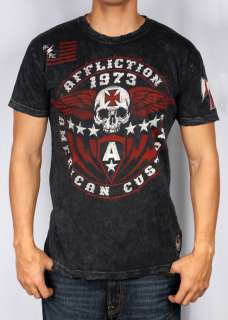 AFFLICTION MENS AMERICAN CUSTOMS IRON SHIELD TEE T SHIRT S M L XL XXL