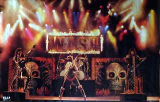 Live Raw Meat Poster Blackie Lawless WASP