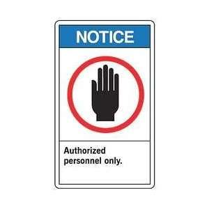Ansi Notice Sign,plastic,10x14 In   ACCUFORM SIGNS