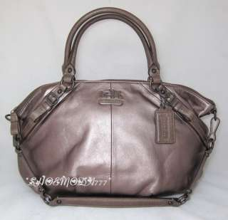 Madison Sophia Large Leather Satchel Bag Handbag Sac Bronze New 15955