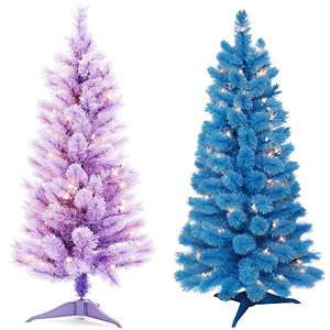 Pre lit Christmas Tree Value Bundle, Choose Two Christmas Decor