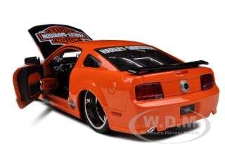 car model of 2006 Ford Mustang GT Harley Davidson Orange die cast car