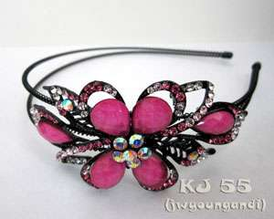 Rhinestone Headbands Butterfly Hair Bands Crystal Head Beads Color