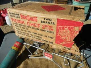 PROPANE: CAMP STOVE:BERNZOMATIC:PICNIC CHEF;BOX:TX825