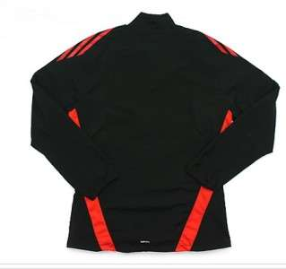 Adizero Men Medium M Track Jacket Pant Suit Top Black Orange Running