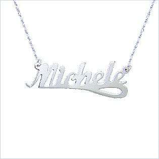 Personalized White Gold Name Necklace  Jewelry Gold Jewelry Pendants