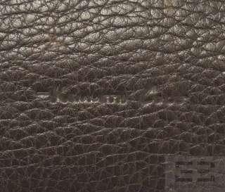 Kenneth Cole Brown Pebbled Leather Shoulder Bag