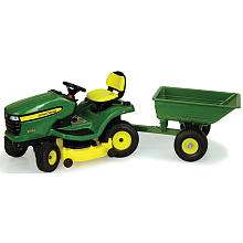 John Deere X324 Lawn Tractor with Cart   TOMY   Toys R Us