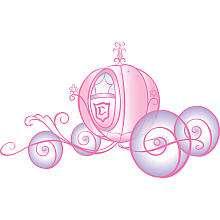 RoomMates Disney Princess   Princess Carriage Peel & Stick Giant Wall
