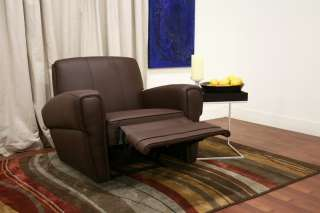 SpeaRo dark brown MODERN faux leather recliner CHAIR
