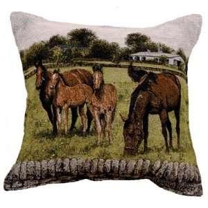 Bourbon County Splendor Horses Decorative Throw Pillow 17
