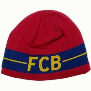 FC BARCELONA SOCCER OFFICIAL LOGO BEANIE CAP HAT  Sports