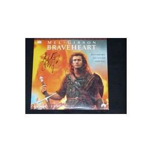 Signed Braveheart (Mel Gibson) Laser Disc Cover by Mel Gibson