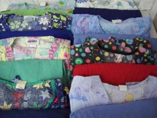 Medical Dental Scrubs Lot of 8 PRINTED Outfits Sets Size L Large LRG