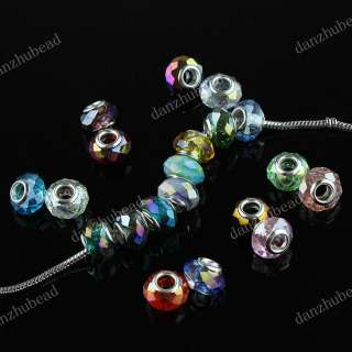 100X WHOLESALE MIX FACETED CRYSTAL GLASS CHARM BEADS