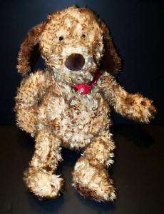 RARE GUND JED PUPPY DOG SCRUFFY BANDANA STUFFED PLUSH
