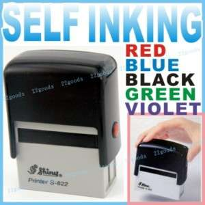 Self inking stamp Ink pad Rubber CASH AIR MAIL SAMPLE