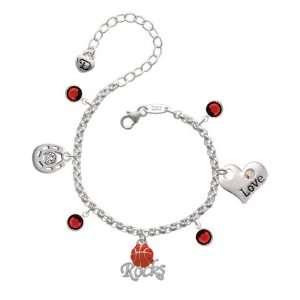Rocks Love & Luck Charm Bracelet with Siam Swarovski Crys Jewelry