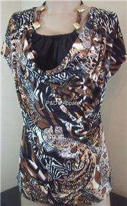 Womens Clothing Black Agenda Shirt Top Blouse M L