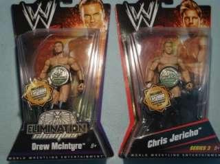 Drew McIntyre Chris Jericho WWE Wrestling figure belt