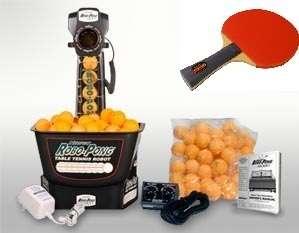 Newgy 540 Robo Pong Robot + 2 Vigilante Sniper II™ Ping Pong Paddles