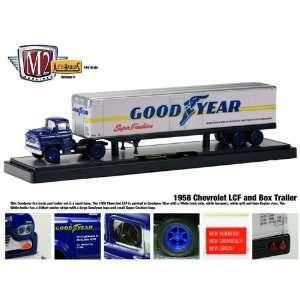 1958 Chevrolet LCF truck & Goodyear Box trailer 1/64 Toys