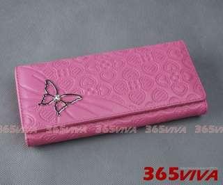 pcs Butterfly Heart Lady Long Wallet Purse Coin Bag