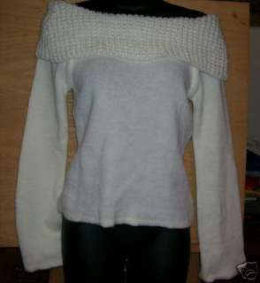 Girls Large pullover off shoulder sweater. NEW NWT