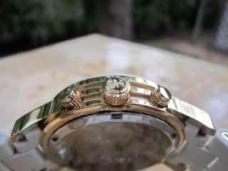 Womens Runway White/ Gold tone Chronograph Watch MK5145 m50
