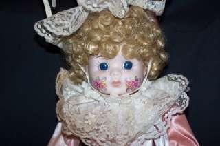 Beautiful Brinn 1988 Porcelain Clown Doll 21 1/2