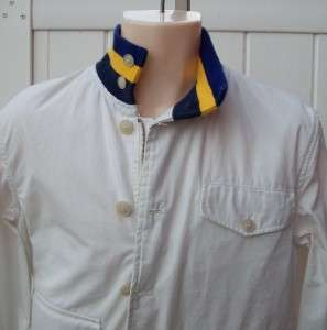 Ralph Lauren mens polo jacket white $198 navy yellow small nwt