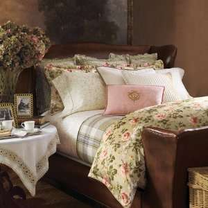 by Ralph Lauren Bedding Yorkshire Rose Green Floral KING Duvet Cover
