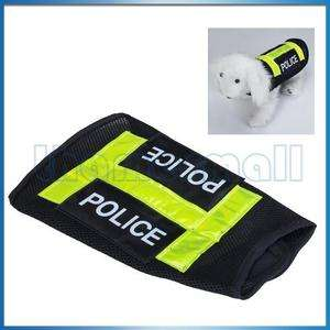 Police Dog Puppy Vest Pet Clothes Apparel Coat Black M