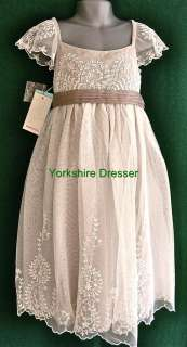 New MONSOON Girls Ivory AYLA Lace Tulle Party Bridesmaid Dress   8 9