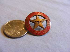 TEXAS NAPUS POSTMASTER UNITED STATES MARSHAL BADGE PIN