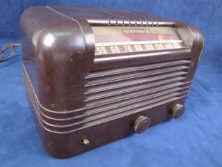 Vintage 1946 RCA Victor Tube Table Radio 56X Bakelite