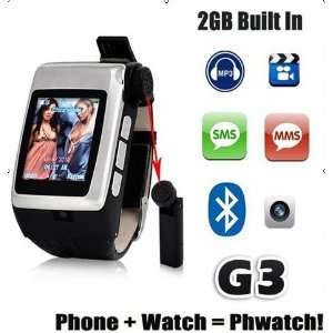 1.5 Inch Touch Screen Quad band Watch Mobile Phone with