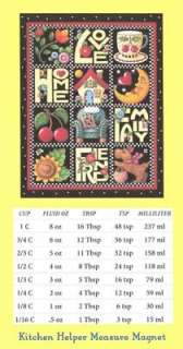 Mary Engelbreit Kitchen Measure Magnet Love,Home,Family