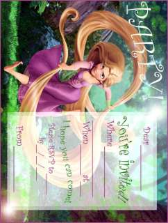 Disney Tangled Party Invitations 20 Pack 3.5 x 5 Inch