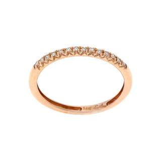 14KT ROSE GOLD   0.08CTW DIAMOND CHANNEL SET BAND RING