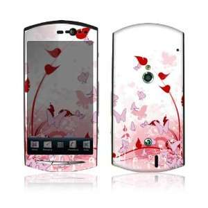 Sony Ericsson Xperia Neo and Neo V Decal Skin   Pink Butterfly Fantasy