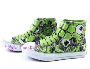 IRON FIST OH NO GREEN VULCANIZED HIGH HI TOP SNEAKERS SHOES 5 6 7 8 9