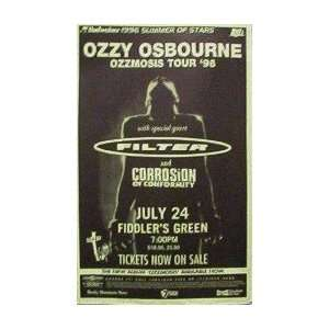 Ozzy Osbourne Handbill and a Poster flat Black Sabbath
