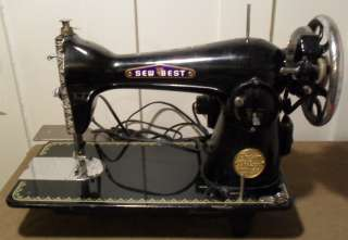 Sew Best Precision de Luxe Model 202 Cast Iron Sewing Machine Japan