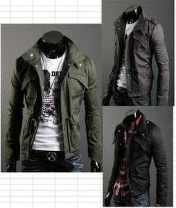 NWT Mens Slim Sexy Premium Short Coat Jacket M L XL XXL