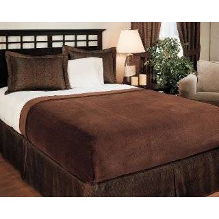 Super Soft Mocha Brown Blanket Queen or Full Size Bed